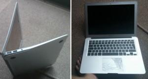 Выпрямление вмятин на Macbook