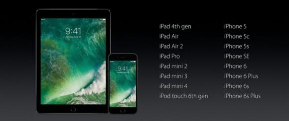 Apple объявила список поддерживающих iOS 10 устройств