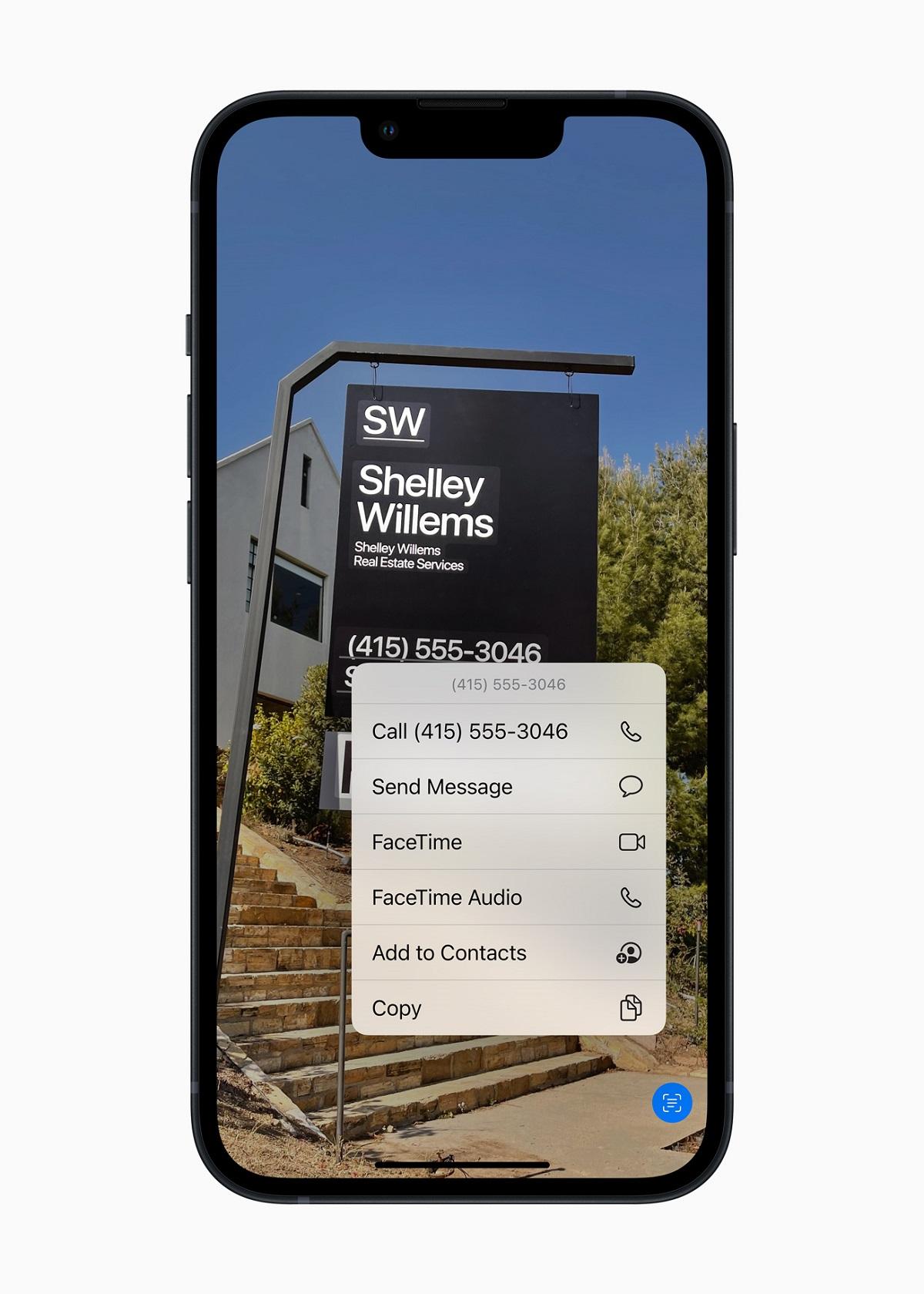Live Text в iOS 15 использует интеллект устройства для распознавания текста на фотографии и позволяет пользователям действовать.