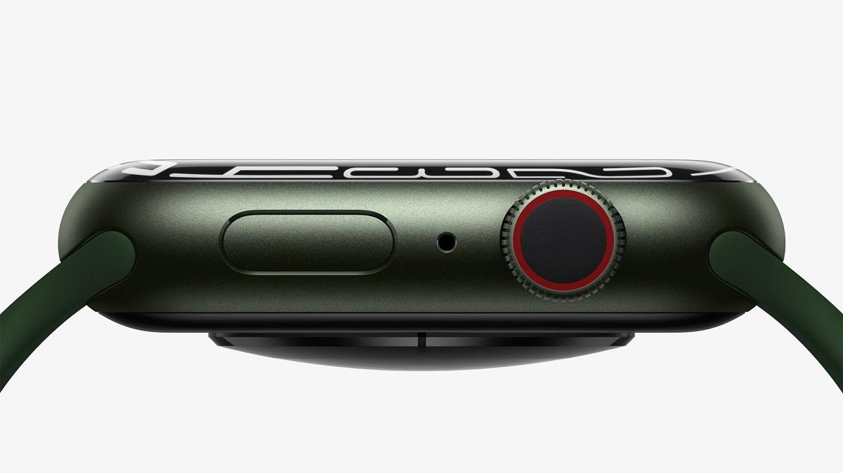 Дисплей Apple Watch Series 7 имеет уникальную преломляющую кромку, благодаря которой полноэкранные циферблаты и приложения легко сочетаются с кривизной корпуса.