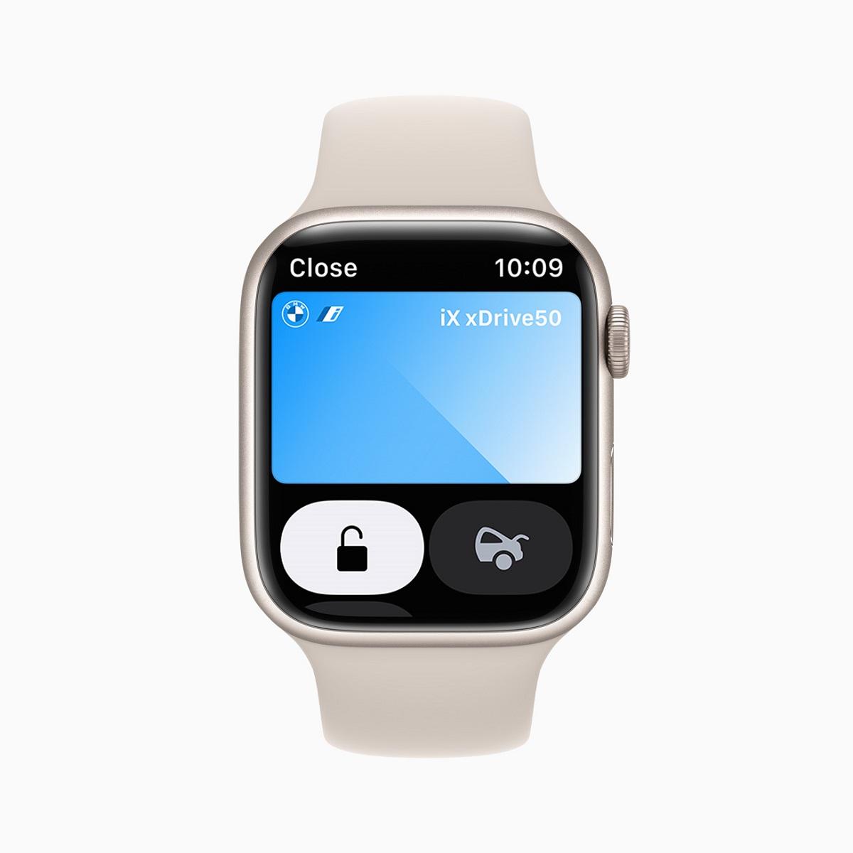 С помощью цифровых ключей от машины владельцы Apple Watch могут безопасно разблокировать свой автомобиль на расстоянии и выполнять другие функции.
