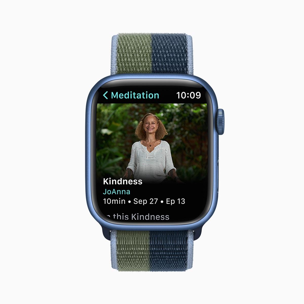 Новые медитации с гидом будут загружаться каждую неделю в аудиоформате в новом приложении Mindfulness для подписчиков Apple Watch for Fitness +.