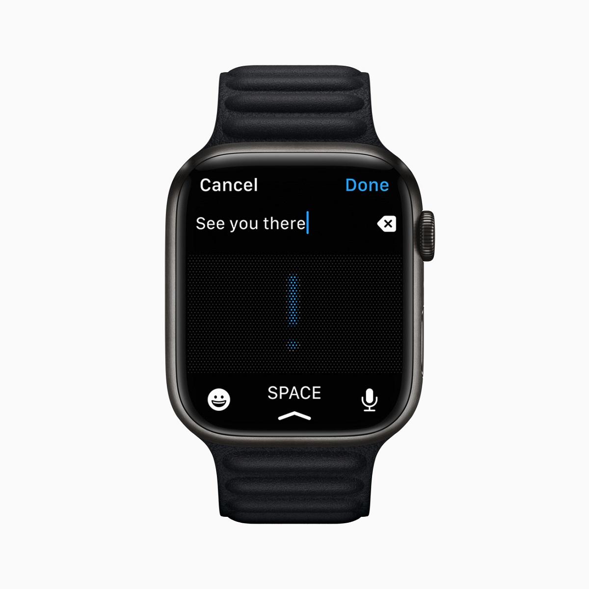 Пользователи Apple Watch теперь могут комбинировать использование каракулей, диктовки и эмодзи в одном сообщении.