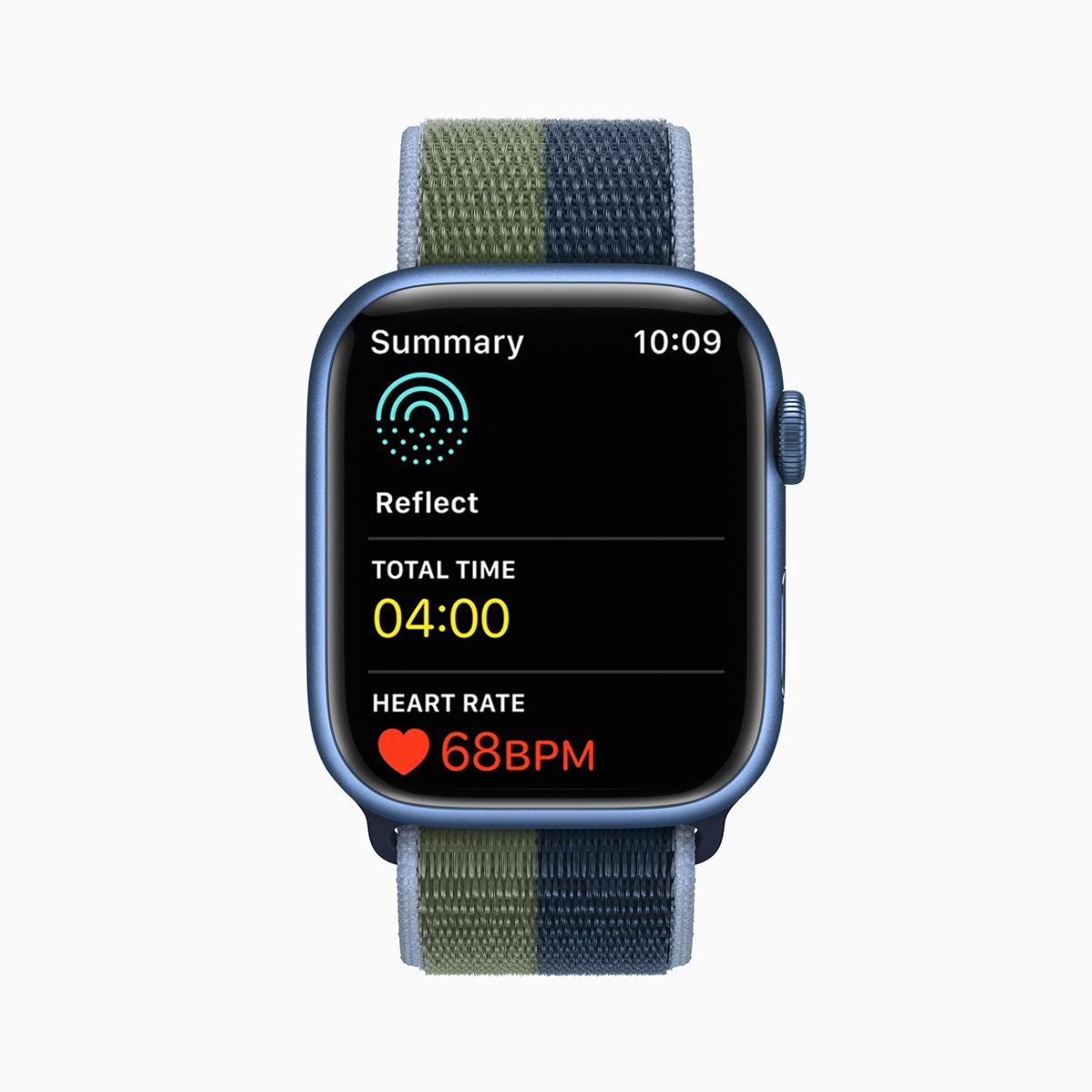 Приложение Mindfulness в watchOS 8 предлагает улучшенные возможности Breathe; новый тип сеанса Reflect; и «Медитации для подписчиков Фитнес +».