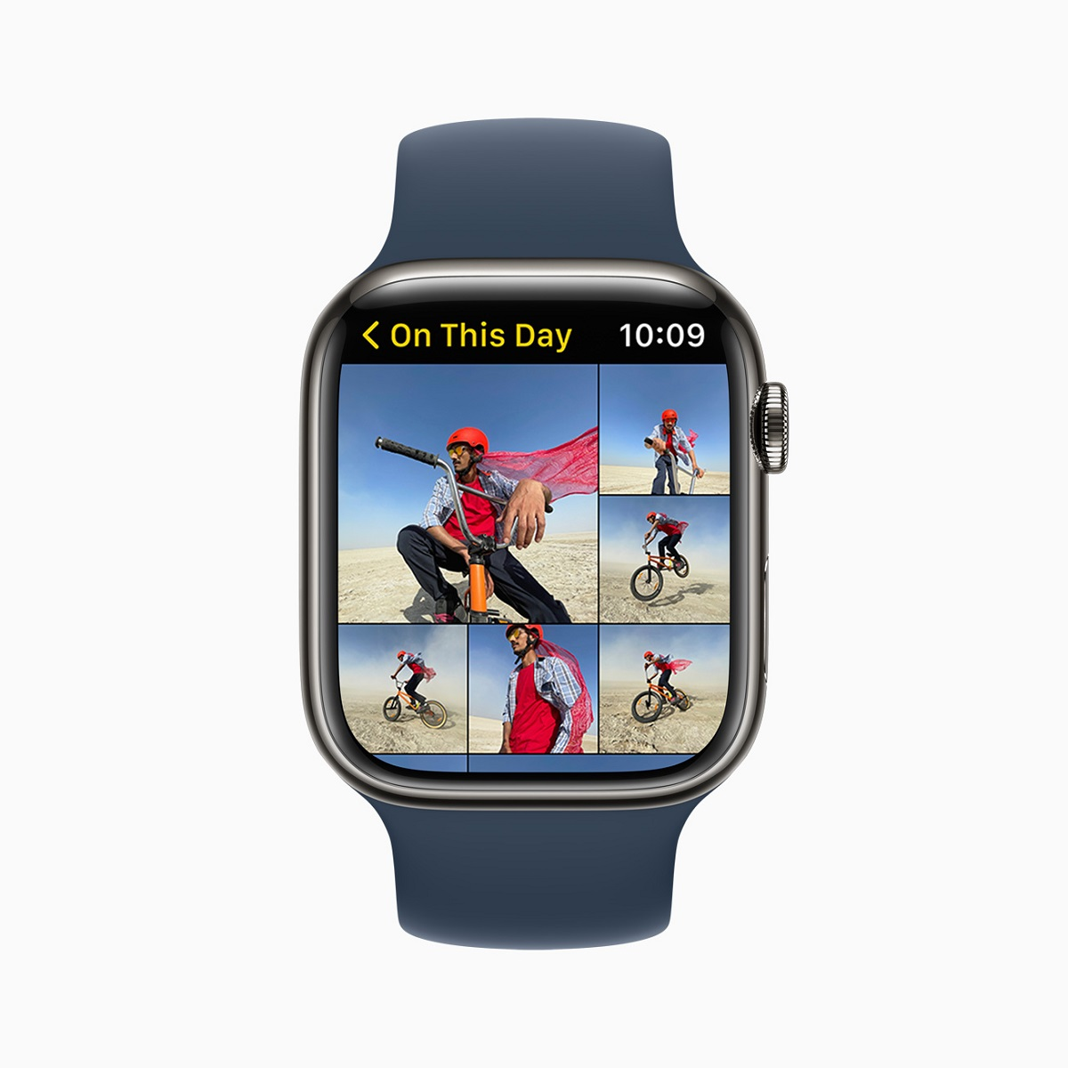 Приложение Photos переработано в watchOS 8 и предлагает новые способы просмотра коллекций и навигации по ним.