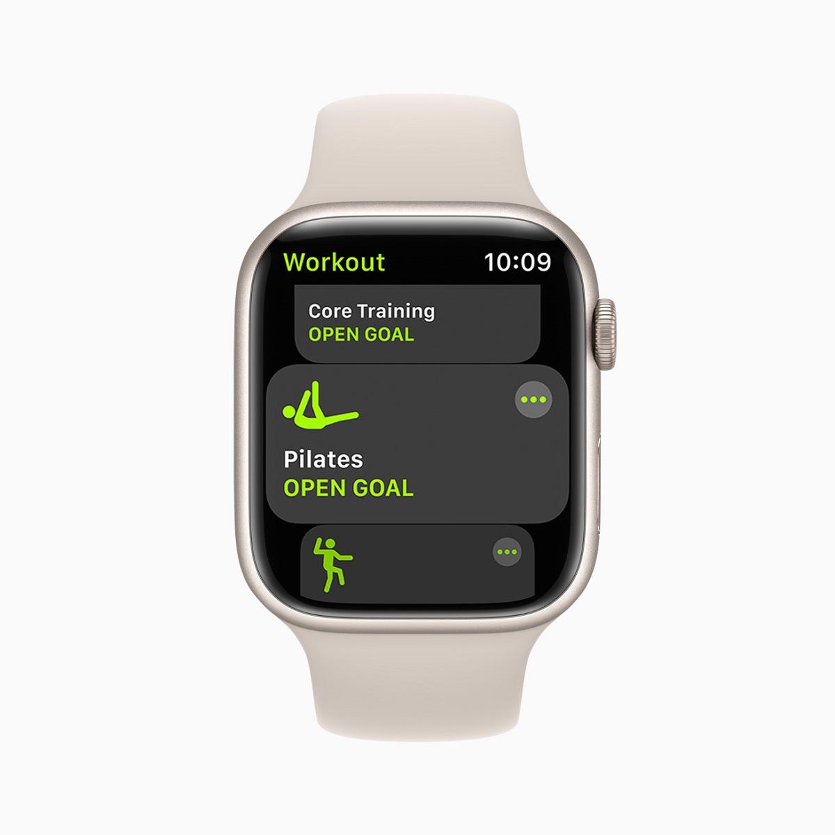 watchOS 8 представляет два новых популярных типа тренировок, которые полезны как для физической подготовки, так и для осознанного движения: тай-чи и пилатес.